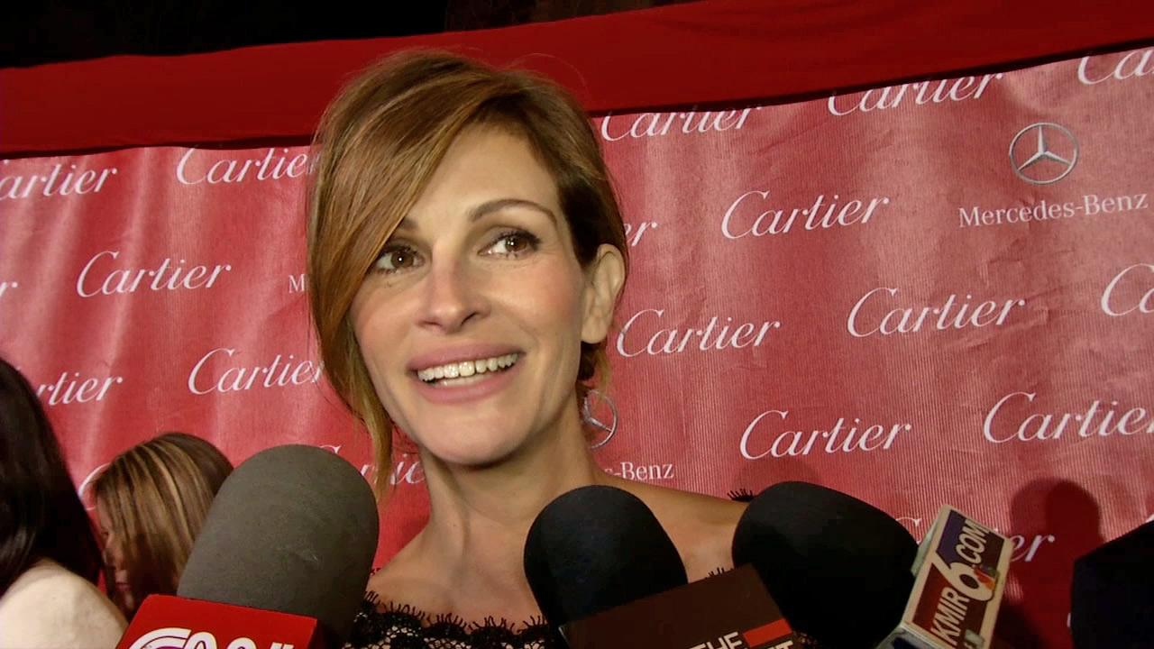 Julia Roberts talks to OTRC.com at the 2014 Palm Springs International Film Festival in Palm Springs, California on Jan. 4, 2014.