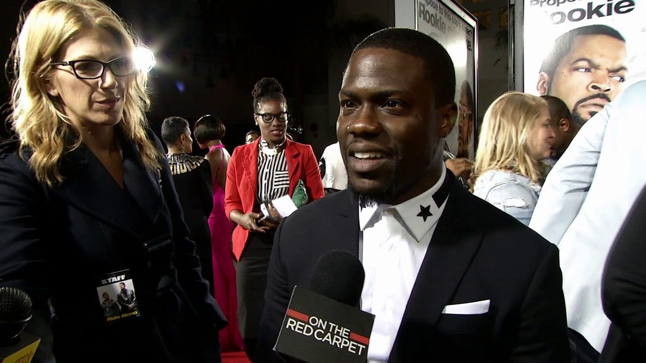 Kevin Hart talks to OTRC.com at the premiere of Ride Along in Los Angeles on Jan. 13, 2014.