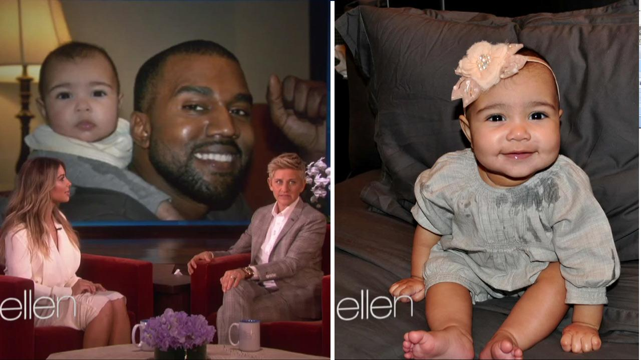 Kim Kardashian appears in an interview on The Ellen DeGeneres Show, which aired on Jan. 17, 2014.