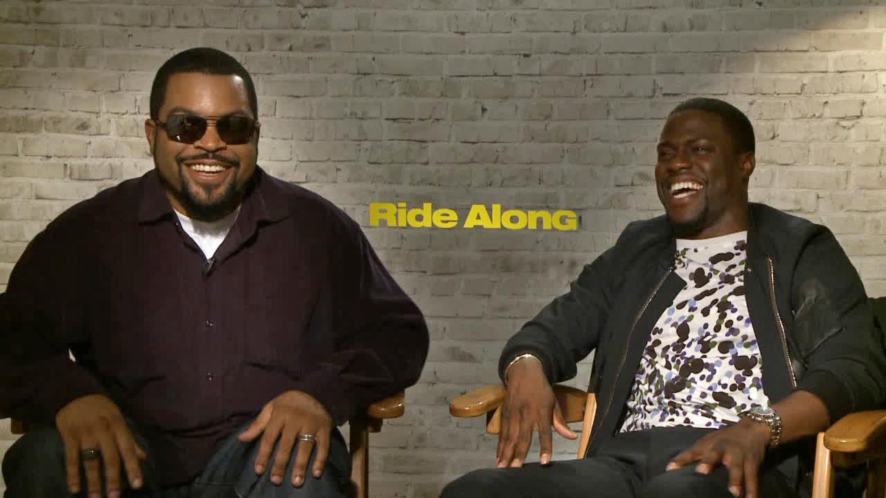 Kevin Hart and Ice Cube talks to OTRC.com at a junket for Ride Along in on Jan. 7, 2014.