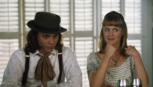 Johnny Depp and Mary Stuart Masterson appear in...