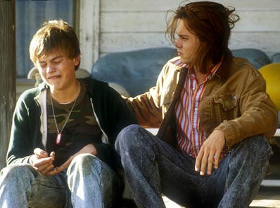 Johnny Depp and Leonardo DiCaprio appear in a scene from the 1993 'What's Eating Gilbert Grape.'
