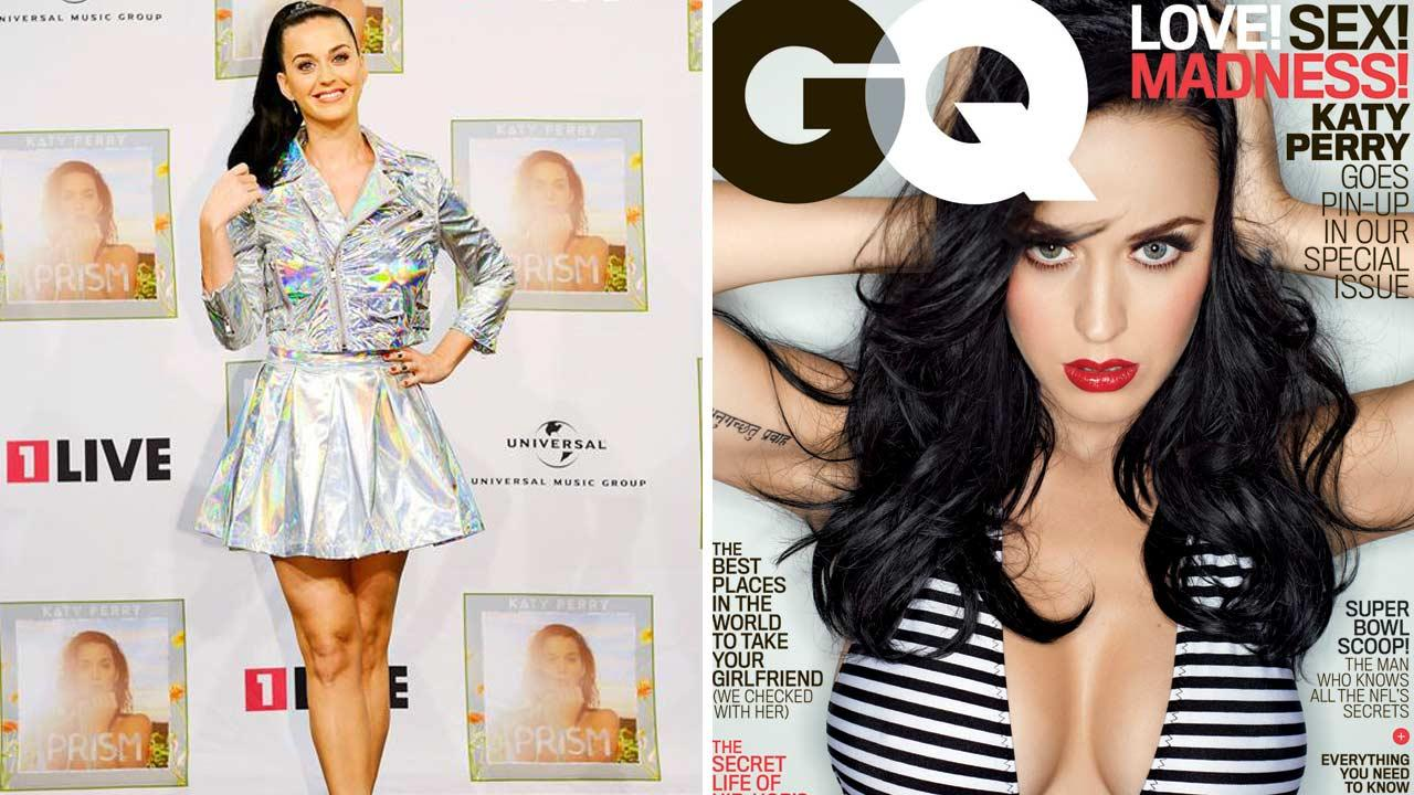 Katy Perry appears at a Prism album release event in Cologne, Germany on Nov. 15, 2013. Katy Perry appears on the February 2014 cover of GQ magazine.