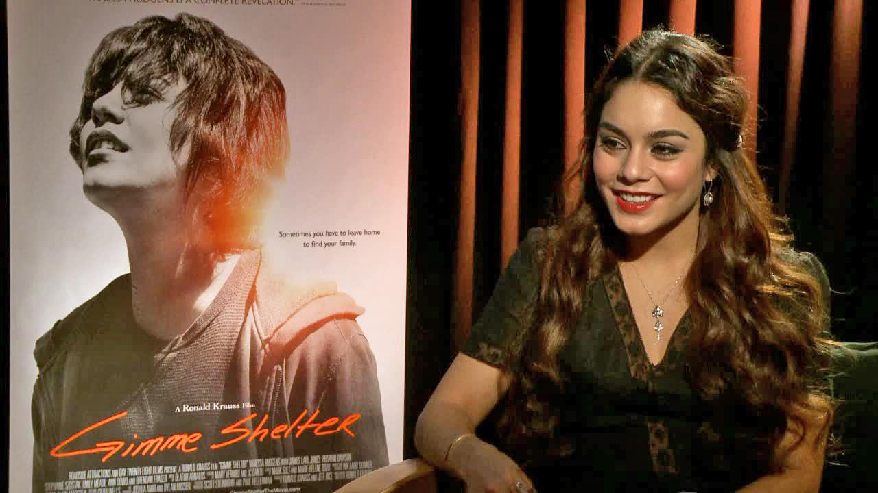 Vanessa Hudgens appears in an interview with OTRC.com for Gimme Shelter in January 2014.