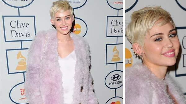 Miley Cyrus appears at the 2014 Clive Davis Pre-Grammy party in Los Angeles, California on Jan. 25, 2014. - Provided courtesy of Sara De Boer / startraksphoto.com