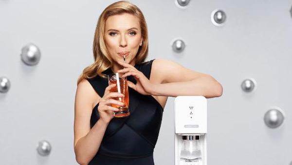 SodaStream unveils Scarlett Johansson as its first-ever Global Brand Ambassador in January 2014. - Provided courtesy of PRNewsFoto/SodaStream International Ltd.