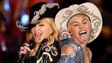 Miley Cyrus and Madonna appear in this photo Cyrus posted on her Instagram page just after midnight on Jan. 29, 2014, ahead of an MTV Unplugged special that reports said would feature a guest appearance by the Queen of Pop. - Provided courtesy of instagram.com/mileycyrus