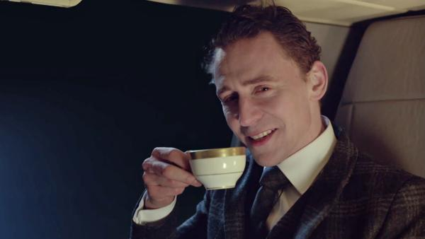 Tom Hiddleston, who plays Loki in the Thor films and The Avengers, appears in a Jaguar ad set to air during the NFL Super Bowl on Feb. 2, 2014. - Provided courtesy of OTRC