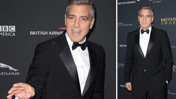 George Clooney appears at the 2013 BAFTA LA Britannia Awards on Nov. 9, 2013. - Provided courtesy of Lionel Hahn/Abacausa / Startraksphoto.com