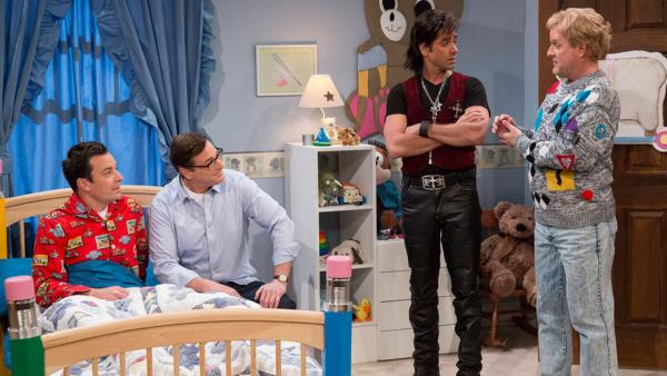 John Stamos, Bob Saget and Dave Coulier appear on Late Night with Jimmy Fallon on Jan. 29, 2014. - Provided courtesy of Lloyd Bishop/NBC