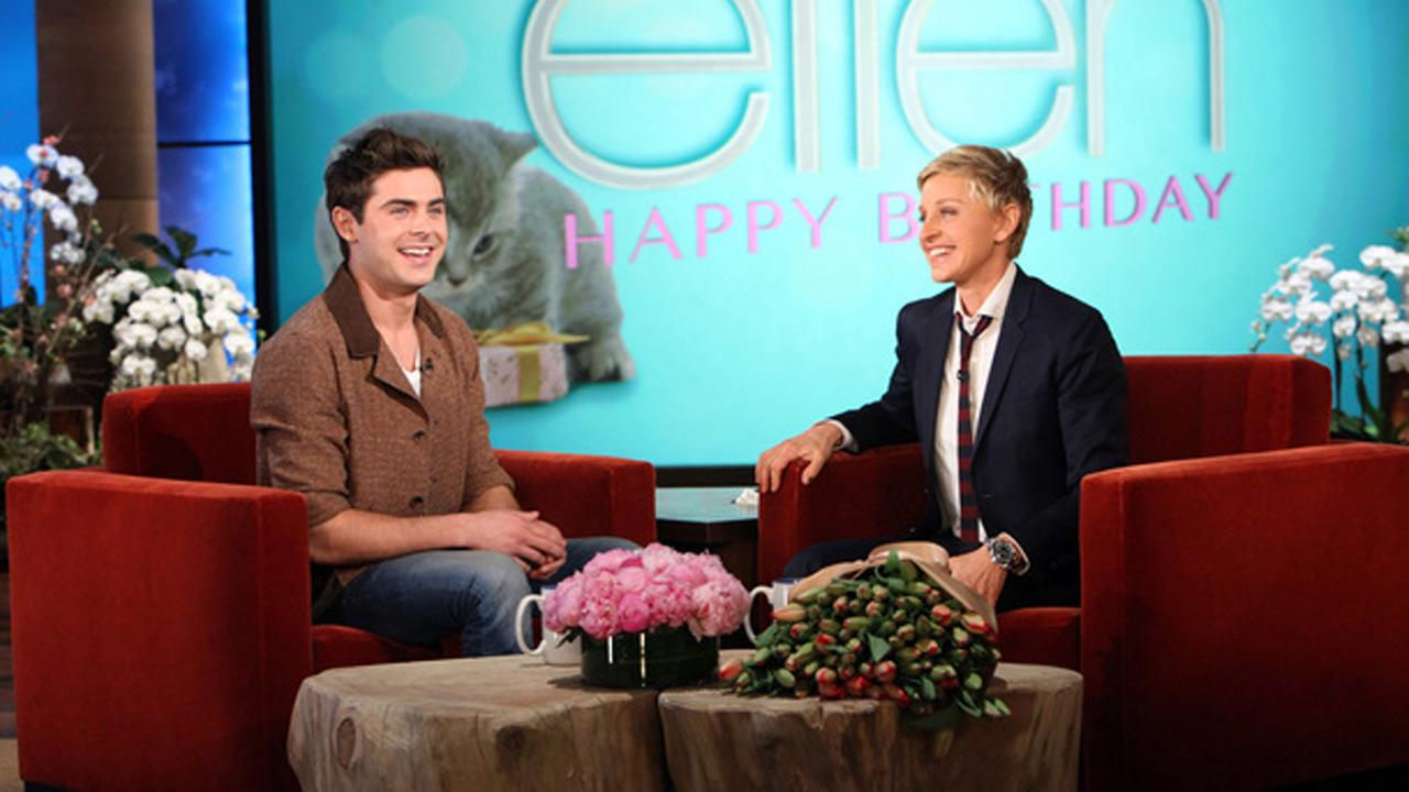 Zac Efron appears on The Ellen DeGeneres Show on Jan. 30, 2014.