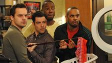 Jake Johnson, Max Greenfield, Lamorne Morris and Damon Wayans, Jr. appear in an episode of New Girl, which aired after the Super Bowl on Feb. 2, 2014. - Provided courtesy of none / Ray Mickshaw/FOX