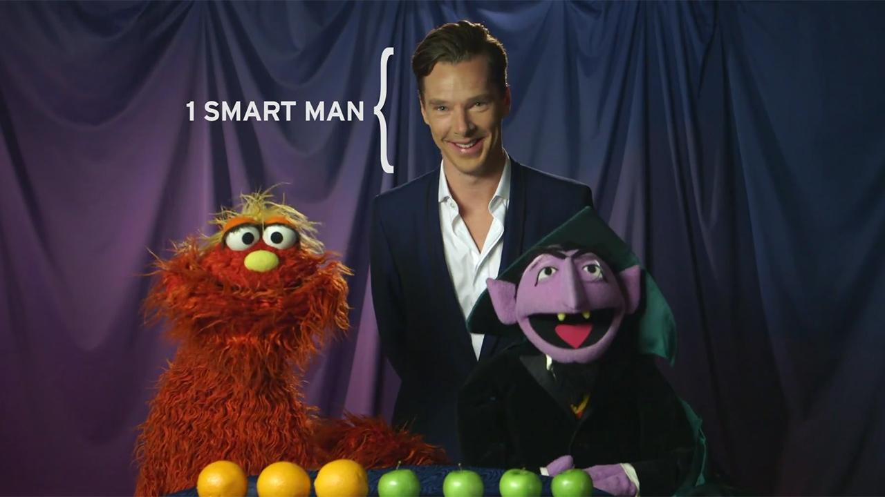 Sherlock star Benedict Cumberbatch appears in a Sesame Street video posted on PBSs YouTube page on Feb. 4, 2014.