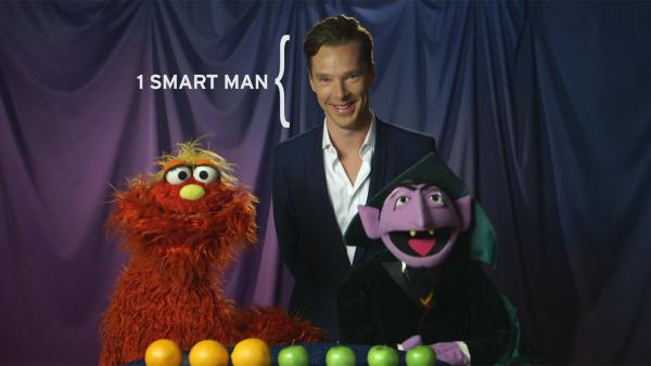 Sherlock star Benedict Cumberbatch appears in a Sesame Street video posted on PBSs YouTube page on Feb. 4, 2014. - Provided courtesy of youtube.com/user/PBS