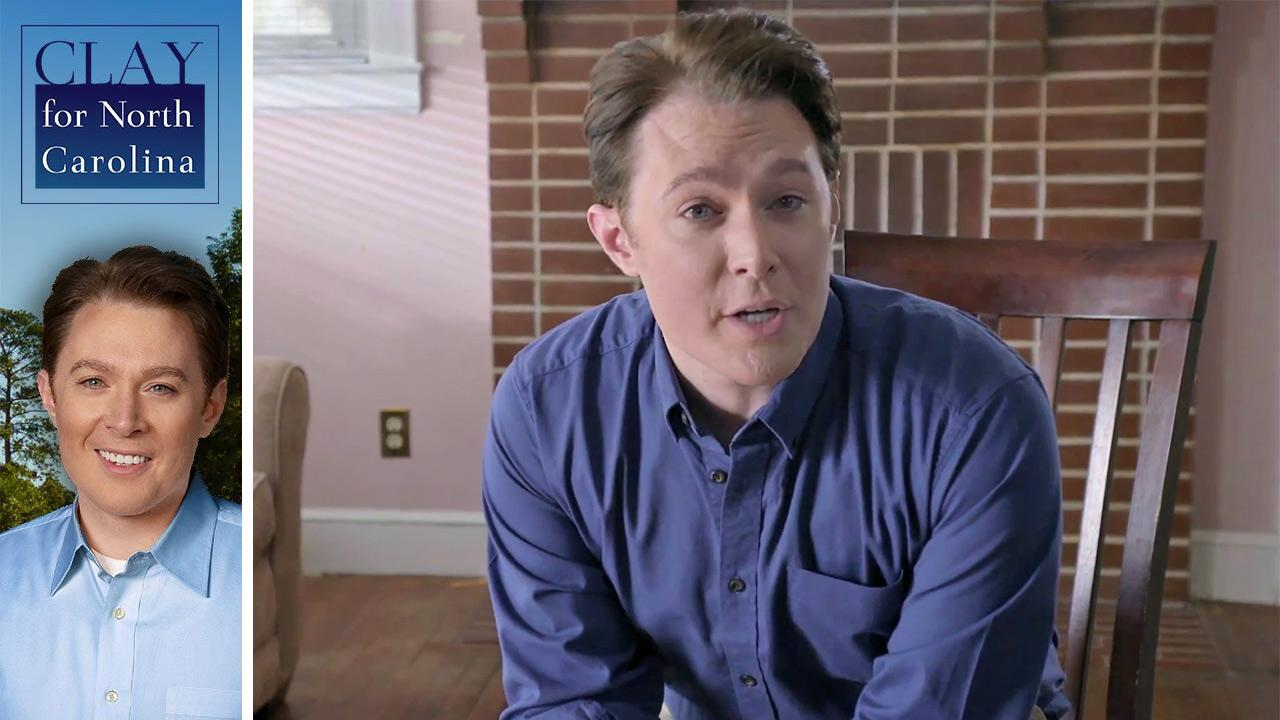 Clay Aiken of American Idol fame appears in a campaign video in which he announces why hes running for Congress in North Carolina in 2014. The clip was posted on his official YouTube page on Feb. 5.