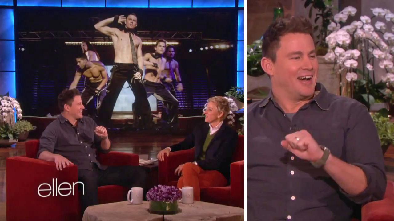Channing Tatum appears on The Ellen DeGeneres Show on Feb. 6, 2014. The Magic Mike actor said he is fappy, or fat and happy.