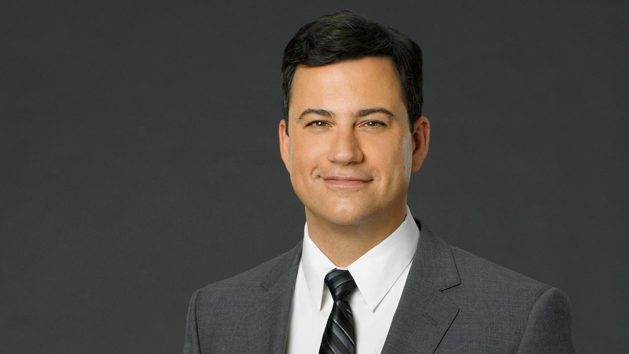 Jimmy Kimmel appears in a promotional photo for Jimmy Kimmel Live! in 2012. / Jay Leno appears in a 2013 photo to promote The Tonight Show with Jay Leno.