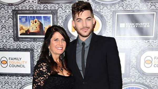 Adam Lambert and his mother, Leila Lambert, appear at the Family Equality Councils Los Angeles Awards Dinner on Feb. 8, 2014. - Provided courtesy of Sara De Boer / Startraksphoto.com
