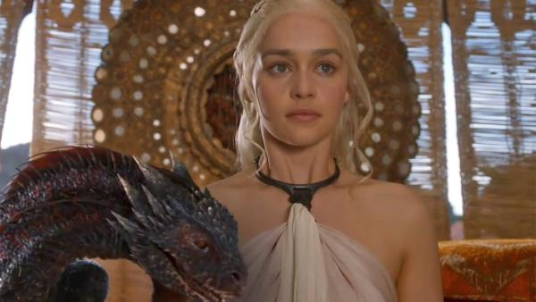 Emilia Clarke appears as Daenerys Targaryen in a scene from season 4 of Game of Thrones, which premieres on 6, 2014. - Provided courtesy of HBO