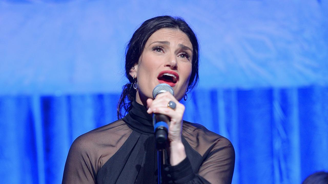 Idina Menzel performs a song from Disneys 2013 movie Frozen at the Vibrato Grill Jazz club in Los Angeles on Feb. 9, 2014. She is set to sing the Oscar-nominated track Let It Go at the 2014 Oscars on March 2.