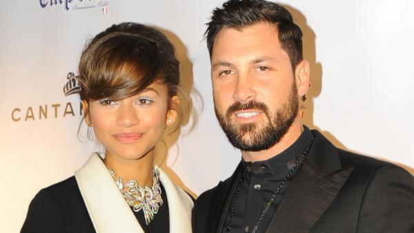 Zendaya and Maksim Chermovskiy appear at the Dancing With The Stars alums and Robert Kheit s Cantamessa Men jewelry collection launch party at Tao Downtown Lounge in New York on Feb. 10, 2014. She is wearing Cantamessa jewelry. - Provided courtesy of OTRC