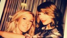 Taylor Swift appears in a photo with singer Ellie Goulding on Feb. 11, 2014. - Provided courtesy of instagram.com/taylorswift