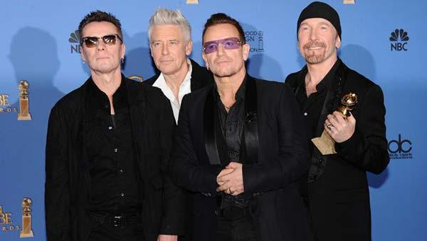 U2 appear at the 71st annual Golden Globe Awards in Los Angeles, California on Jan. 12, 2014. - Provided courtesy of Sara De Boer / startraksphoto.com