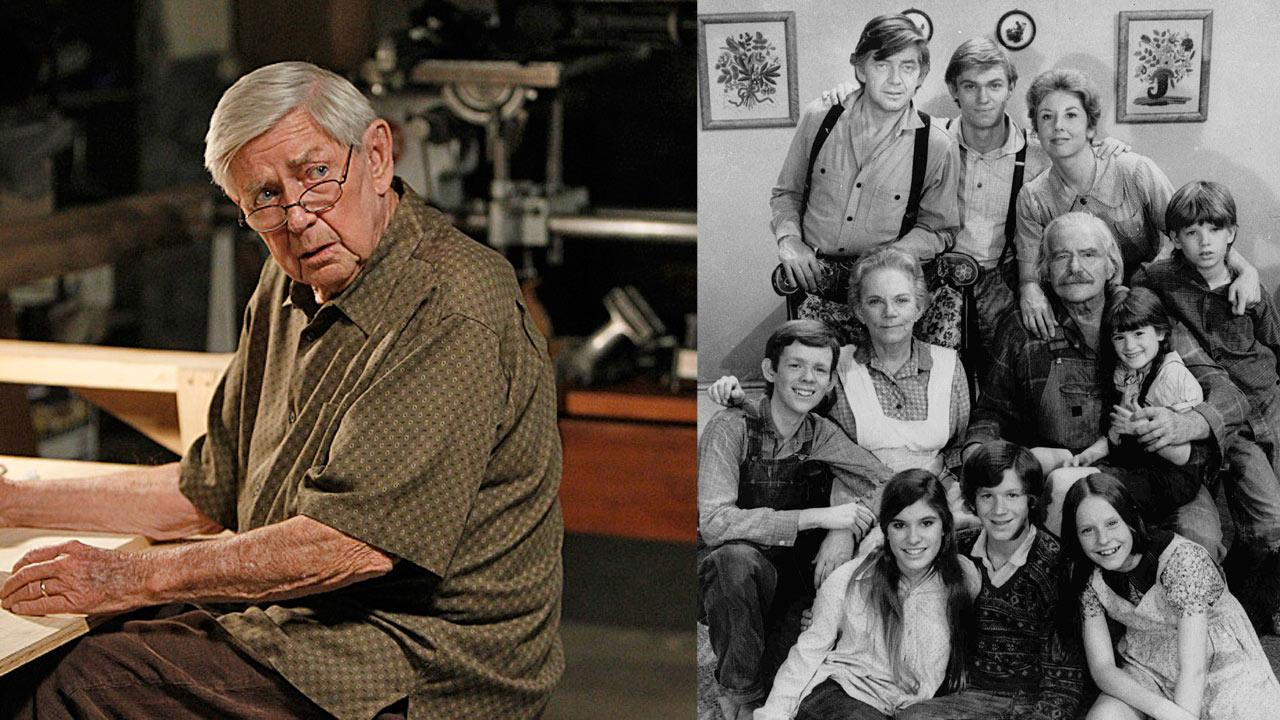 Ralph Waite appears in the NCIS episode Namesake, which aired on Oct. 30, 2012. / The cast of The Waltons appears in an undated photo.
