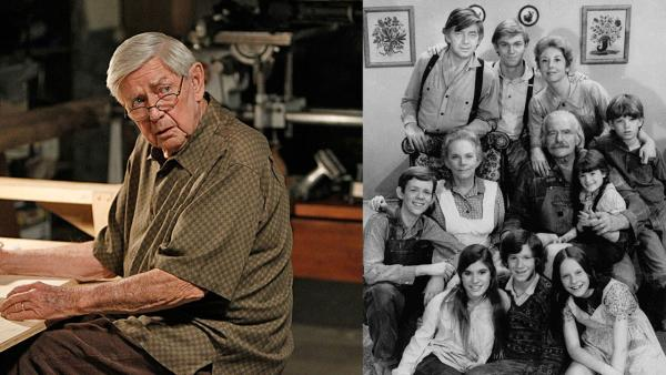 Ralph Waite appears in the NCIS episode Namesake, which aired on Oct. 30, 2012. / The cast of The Waltons appears in an undated photo. - Provided courtesy of Cliff Lipson/CBS / AP Photo