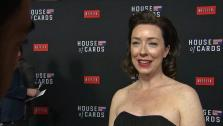 House Of Cards newbie Molly Parker talks about season 2 season 2 at the Netflix shows premiere in Los Angeles on Feb. 13, 2014. - Provided courtesy of OTRC
