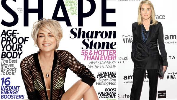 Sharon Stone appears on the March 2014 cover of Shape Magazine. Sharon Stone appears at the amFAR 2013 Inspiration Gala in Los Angeles on Dec. 12, 2013.