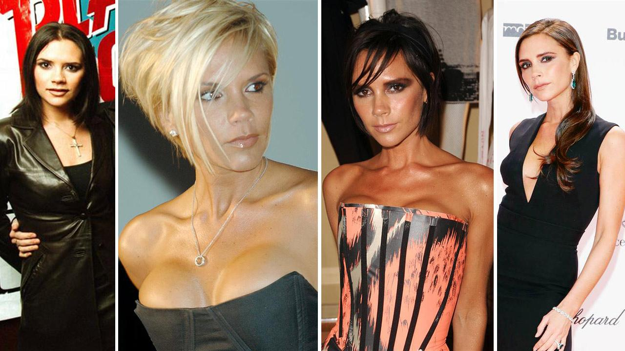 Victoria Beckham attends a Spice Girls event in New York on Jan. 22, 1998. / Beckham attends a Spice Girls reunion tour press conference on June 28, 2007. / Beckham appears in NY on Sept. 10, 2009. / Beckham attends the BAMBI Awards on Nov. 14, 2013.