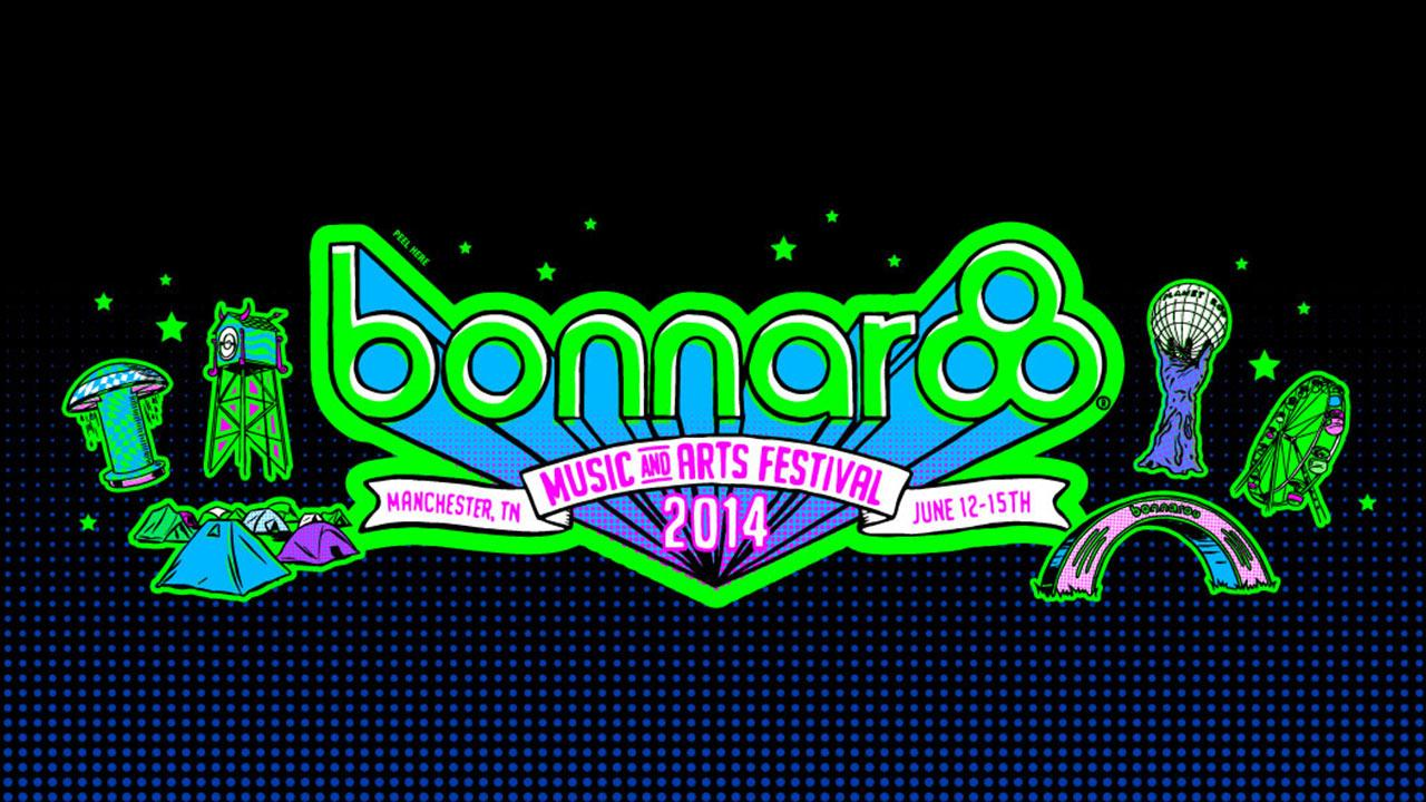 The official logo of the 2014 Bonnaroo Music and Arts Festival, whose lineup includes Kanye West and Elton John.