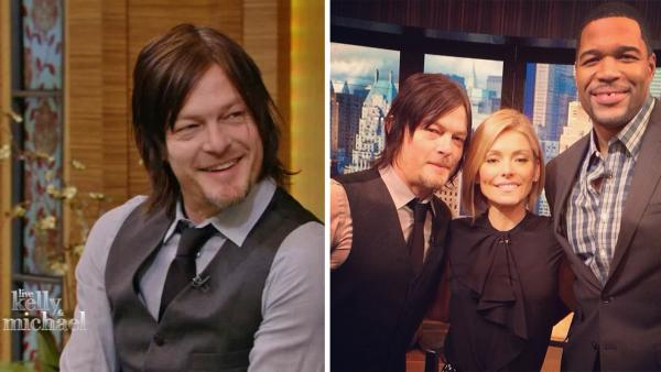 Norman Reedus, who plays Daryl Dixon on The Walking Dead, appears on LIVE with Kelly and Michael on Friday, Feb. 21, 2014. - Provided courtesy of WABC / instagram.com/p/kroesiuLbP/ instagram.com/kellyandmichael