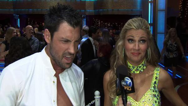 Erin Andrews, Maksim Chmerkovskiy talk to On The Red Carpet about week 1 of Dancing With the Stars. (2010) - Provided courtesy of OTRC