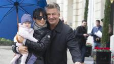 Alec Baldwin is pictured with wife Hilaria and their daughter, Carmen, near the Ritz Carlton Hotel in Madrid, Spain on Feb. 6, 2014. - Provided courtesy of Dyd Fotografos / Startraksphoto.com