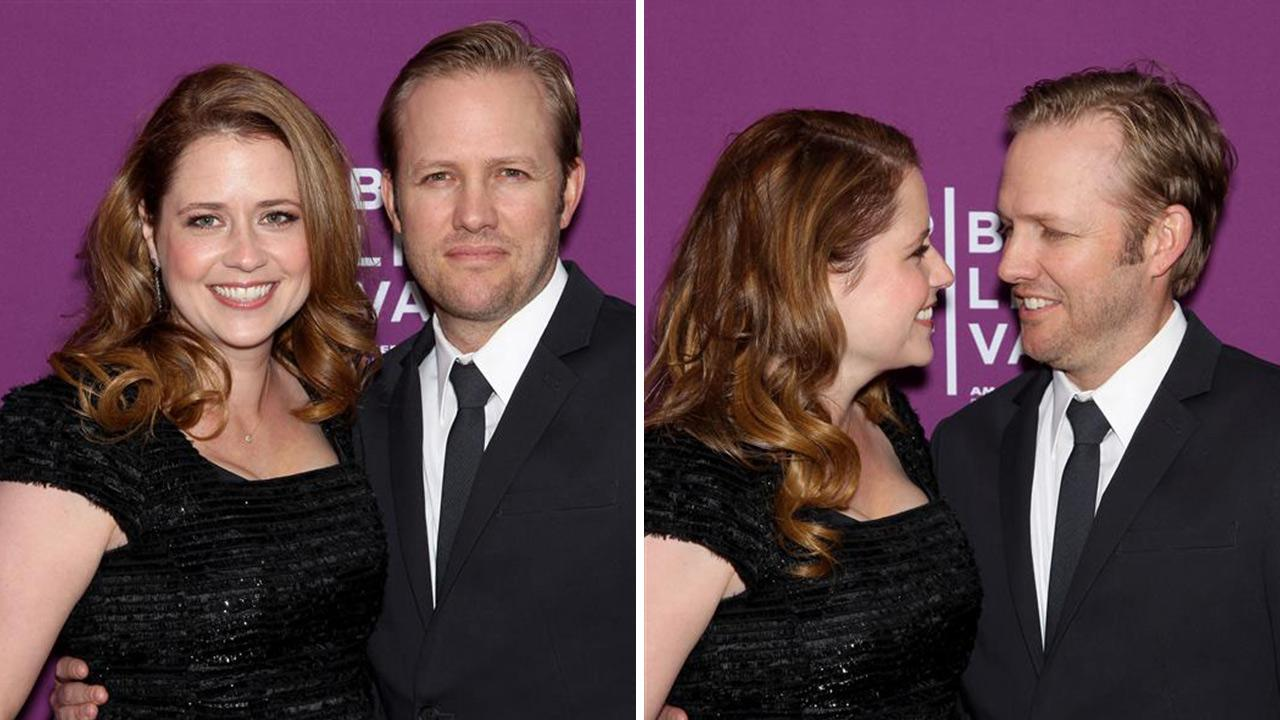 Jenna Fischer of The Office fame and husband Lee Kirk appear at the premiere of The Giant Mechanical Man at the 2012 Tribeca Film Festival in New York on April 23, 2012. She confirmed on Feb. 25, 2014 that the two are expecting their second child.