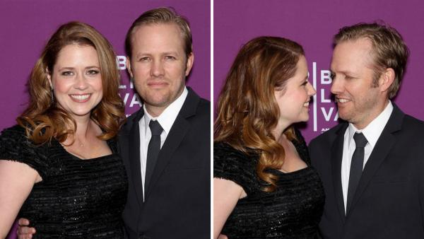 Jenna Fischer of The Office fame and husband Lee Kirk appear at the premiere of The Giant Mechanical Man at the 2012 Tribeca Film Festival in New York on April 23, 2012. She confirmed on Feb. 25, 2014 that the two are expecting their second child. - Provided courtesy of Marion Curtis / Startraksphoto.com
