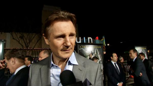 Liam Neeson appears in an interview with OTRC.com at the Los Angeles premiere of Non-Stop on Feb. 24, 2014. - Provided courtesy of OTRC
