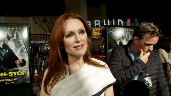 Julianne Moore appears in an interview with OTRC.com at the Los Angeles premiere of Non-Stop on Feb. 24, 2014. - Provided courtesy of OTRC
