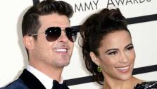 Robin Thicke and Paula Patton appear at the 56th annual Grammy Awards in Los Angeles, California on Jan. 26, 2014. - Provided courtesy of Lionel Hahn / startraksphoto.com