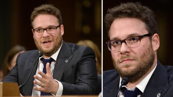 Seth Rogen of Knocked Up fame testifies at a Congressional hearing about Alzheimers disease and his mother-in-law, who suffers from it, on Feb. 26, 2014. He later slammed senators who were absent. - Provided courtesy of Olivier Douliery / Abacausa / Startraksphoto.com