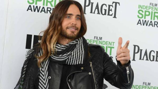 Jared Leto arrives at the 2014 Film Independent Spirit Awards, on Saturday, Mar. 1, 2014, in Santa Monica, Calif. - Provided courtesy of Jordan Strauss/Invision/AP