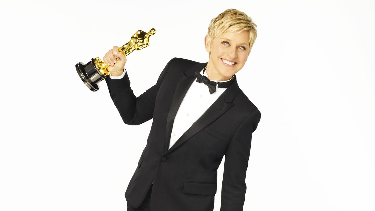 Ellen DeGeneres, host of the 2014 Oscars, appears in a publicity photo for the event, which airs on ABC on Sunday, March 2, 2014.