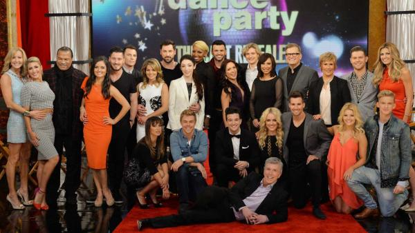 The 'Dancing With The Stars' season 18 cast appears on 'Good Morning America' on March 4, 2014 after they were announced for the first time.
