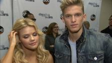 Dancing With The Stars cast member Cody Simpson, a teen Australian pop star, and partner Witney Carson talk to OTRC.com