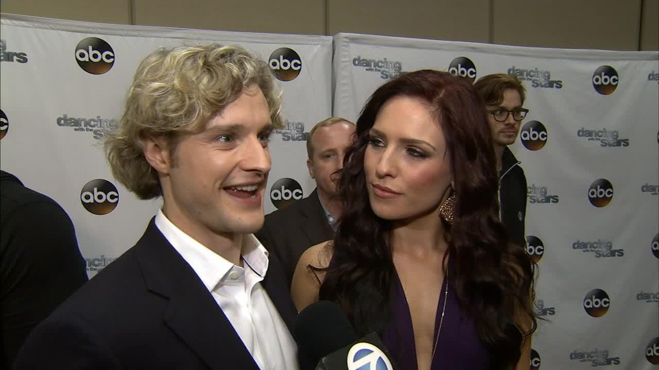 Dancing With The Stars cast member Charlie White and partner Sharna Burgess talk to OTRC.com on March 4, 2014, ahead of the Spring 2014 premiere of the ABC show.