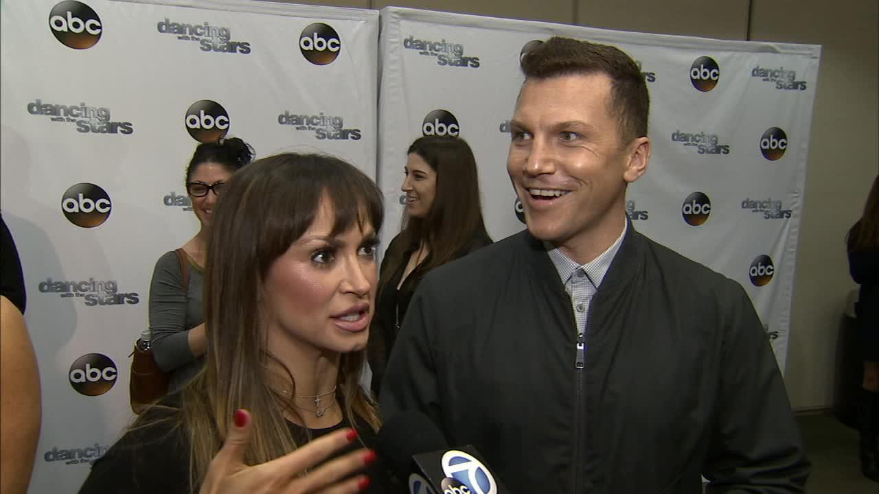 Dancing With The Stars cast member and retired NHL player Sean Avery and partner Karina Smirnoff talk to OTRC.com on March 4, 2014, ahead of the Spring 2014 premiere of the ABC show.