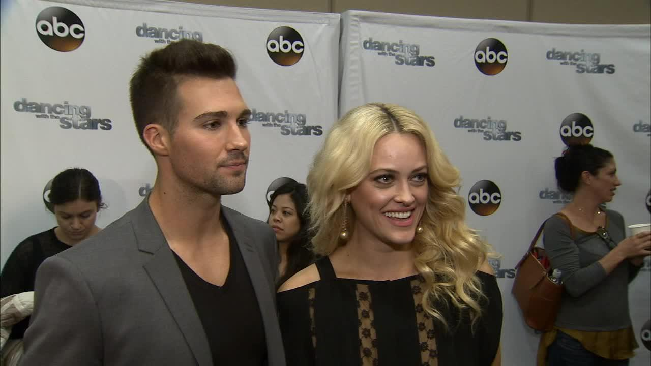 Dancing With The Stars cast member and Big Time Rush star James Maslow and partner Peta Murgatryod talk to OTRC.com on March 4, 2014, ahead of the Spring 2014 premiere of the ABC show.ABC / Todd Wawrychuk