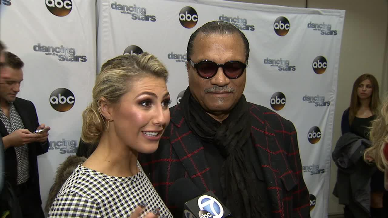 Dancing With The Stars cast member and Star Wars alum Billy Dee Williams and partner Emma Slater talk to OTRC.com on March 4, 2014, ahead of the Spring 2014 premiere of the ABC show.